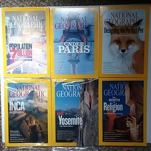 Jan-June 2011 National Geographic mags *2 sealed